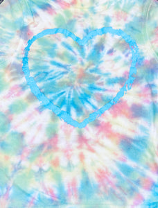 Short-Sleeve Tie Dyed Heart T-Shirt