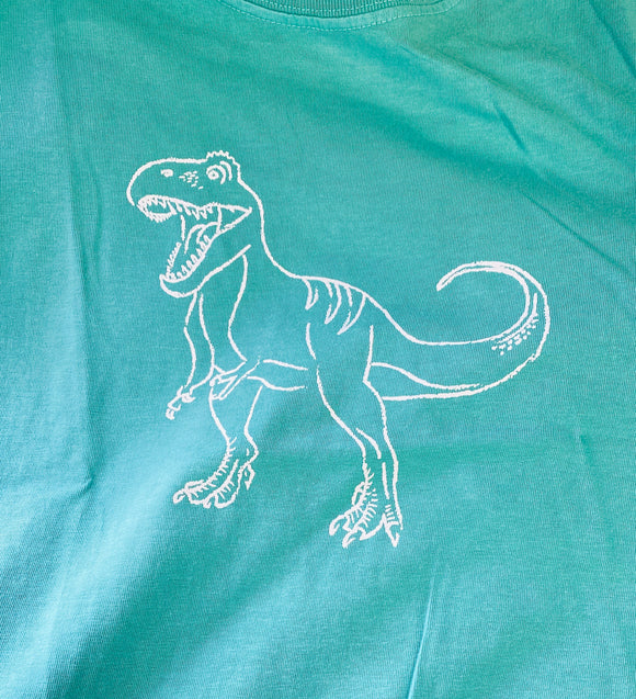 Short-Sleeve Seafoam Green TRex T-Shirt