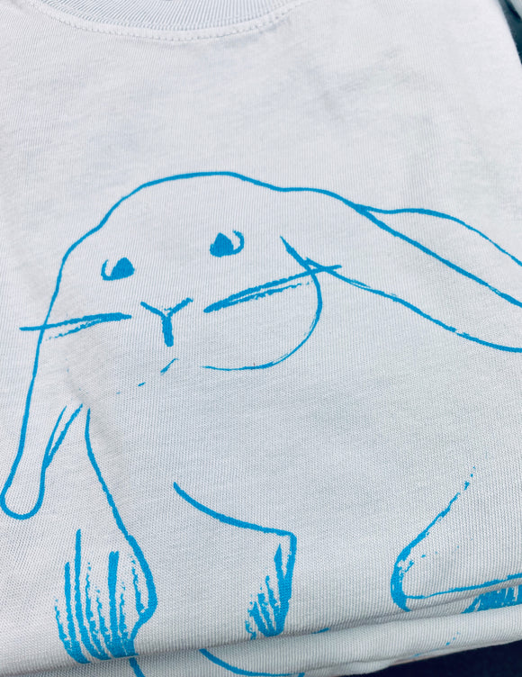 Short-Sleeve Blue Bunny in the Meadow T-Shirt