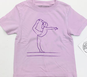 Short-Sleeve Purple Gymnast T-Shirt