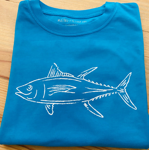 Short-Sleeve Royal Blue Tuna T-Shirt