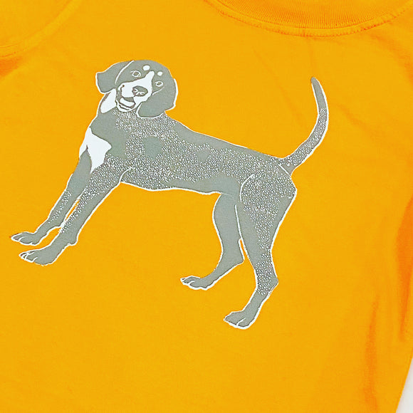 Long-Sleeve Orange Bluetick T-Shirt