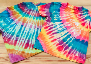 Short-Sleeve Sunshine Tie-Dye Bike Cruiser T-Shirt