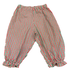 Red/Green Gingham Ruffle Bubble Pants