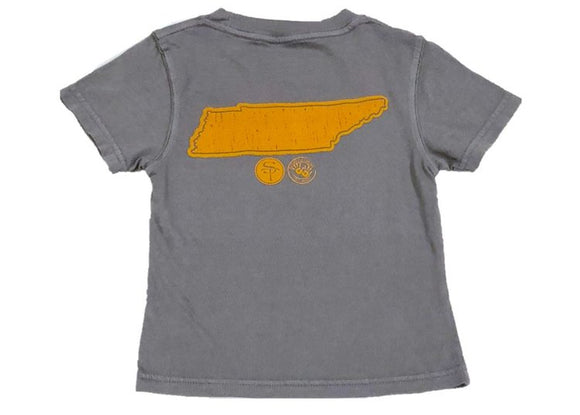 Short-Sleeve Gray/Orange State of Tennessee T-Shirt