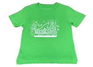 Short-Sleeve Green Mardi Gras Float T-Shirt