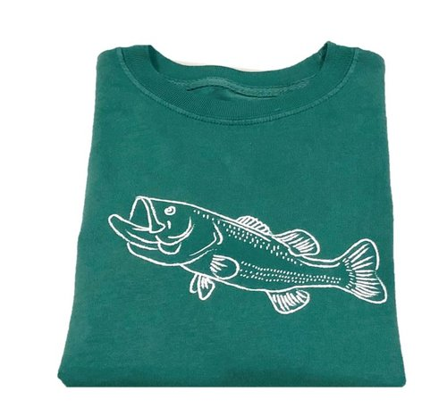 Long-Sleeve Green Bass T-Shirt