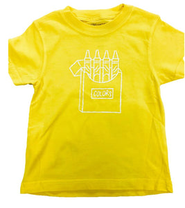 Short-Sleeve Yellow Crayons T-Shirt