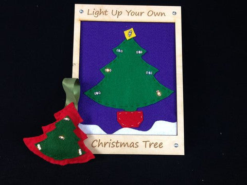 Conductive Sewing Christmas Tree Ornament