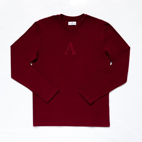 """A"" Long Sleeve Raspberry Wine"