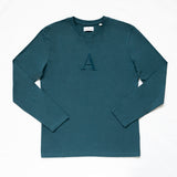 """A"" Long Sleeve Stone Blue"