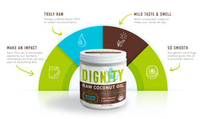 100% RAW Organic, Unrefined, Non-GMO, Non-hexane Coconut Oil