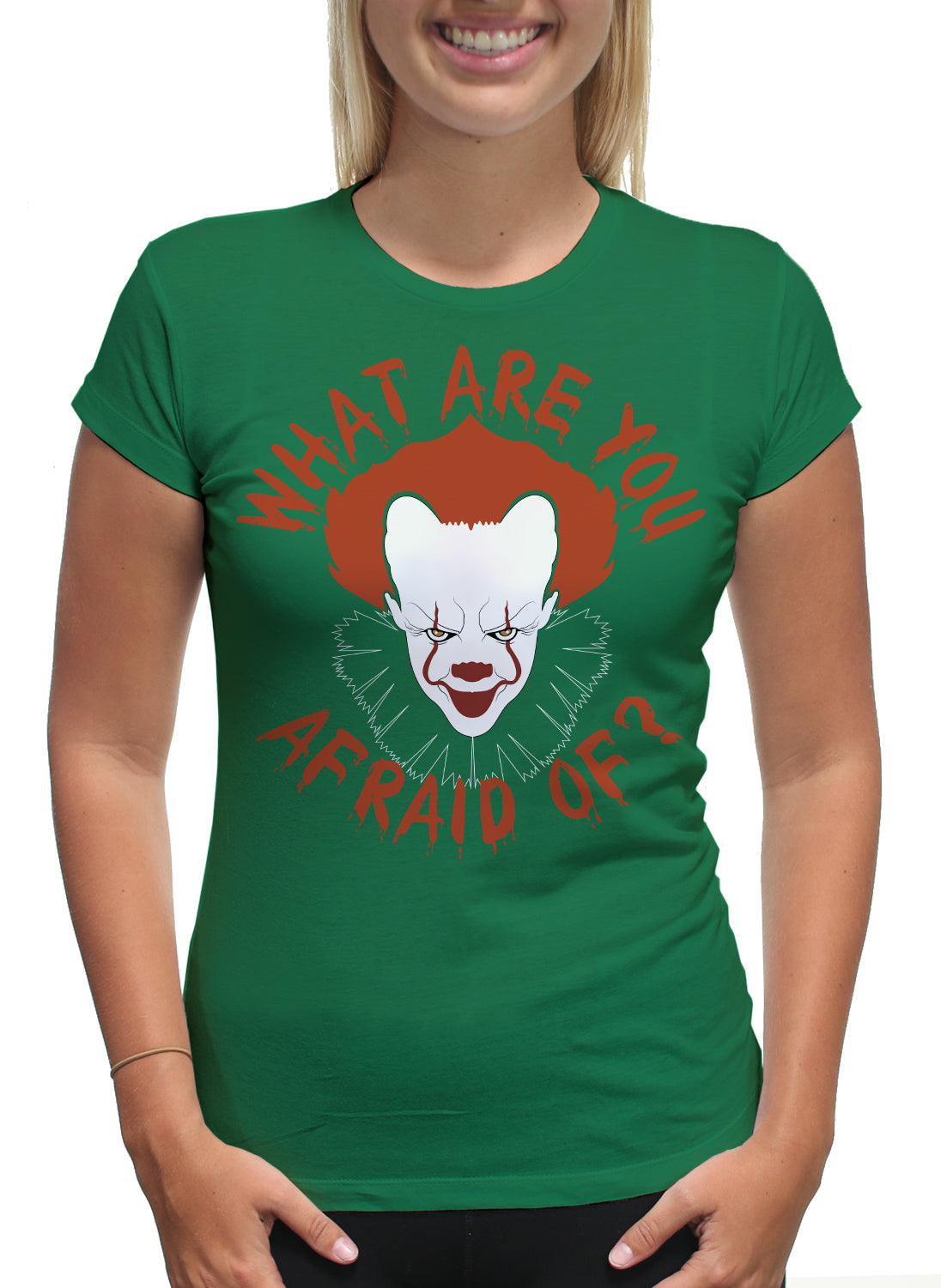 Women S Halloween Scary Clown T Shirt Hoodies Youngmotto Com