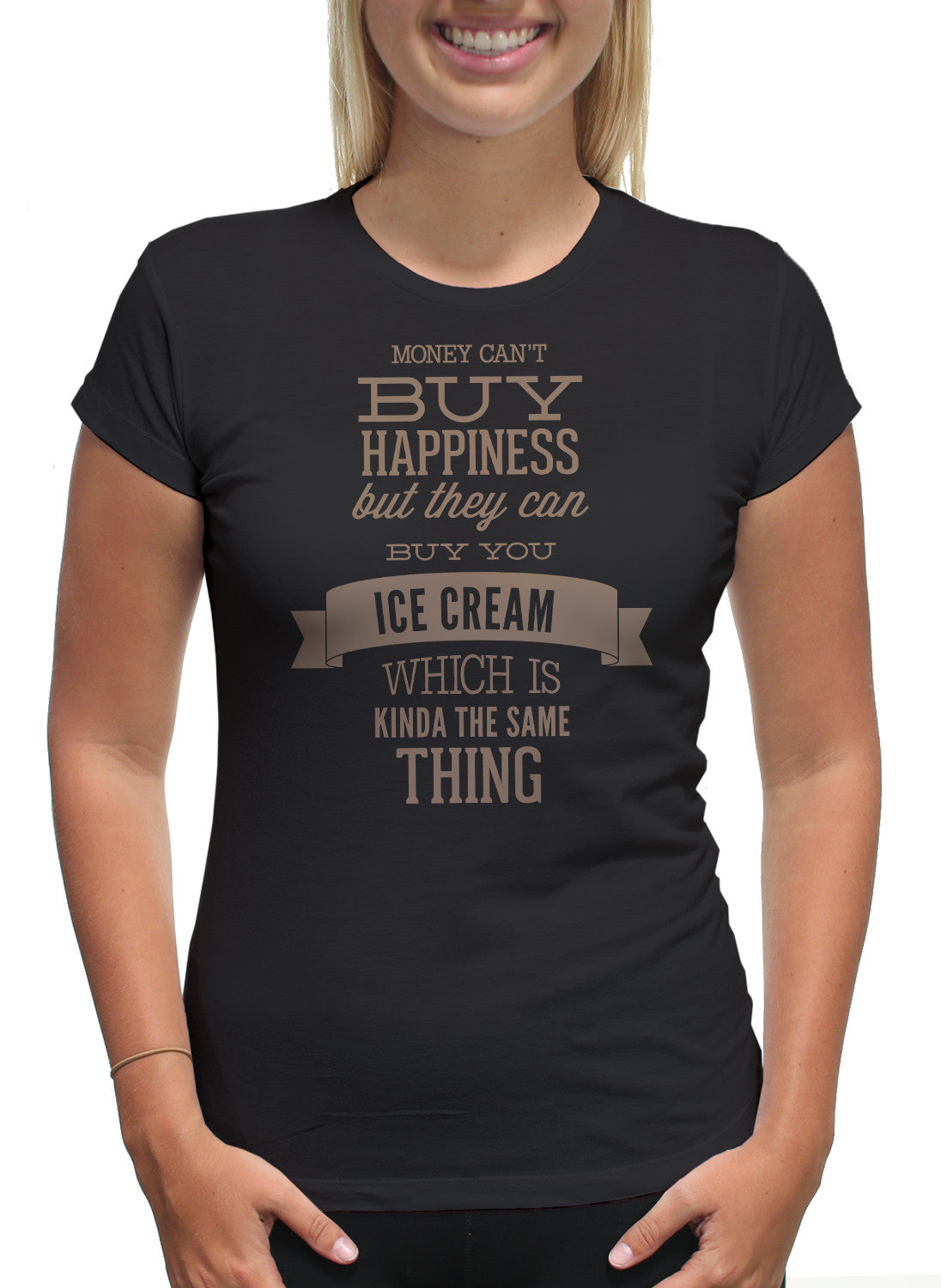 Money Happiness Ice Cream