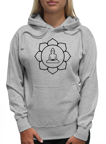 Black Sun Flower Buddha Praying