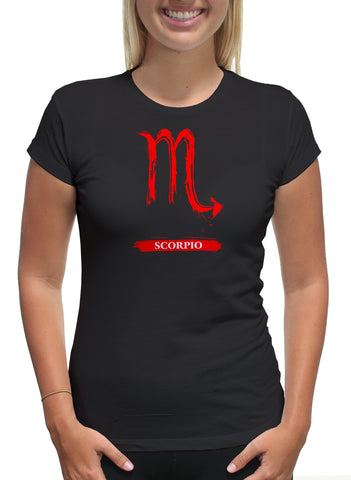 Scorpio Logo Red Astrological Sign