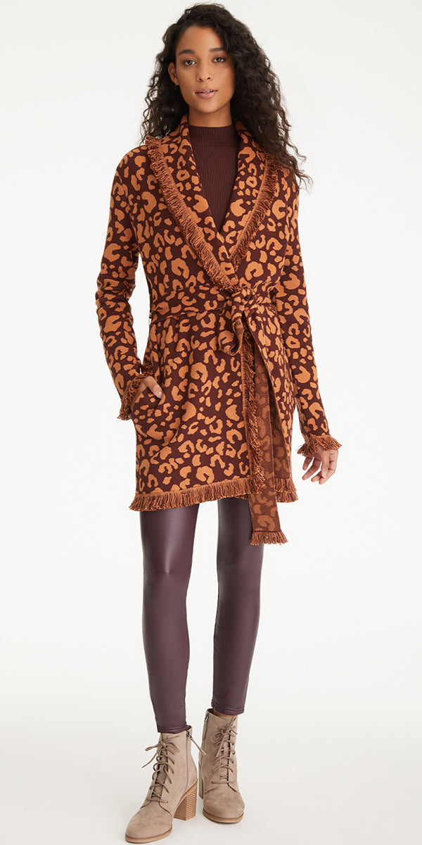 Tyler Boe Faux Fur Cheetah Coat