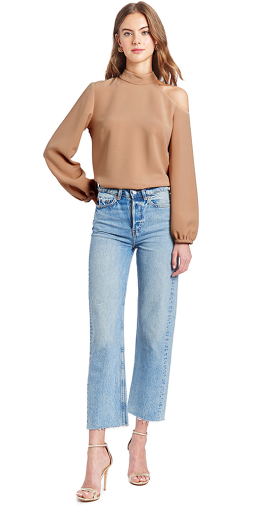 Autumn Cashmere Lace Trimmed Crew