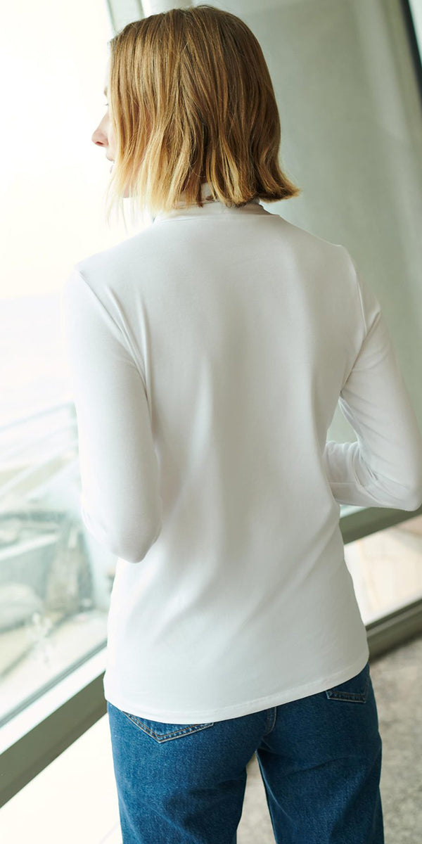 White + Warren Modal Cotton Crewneck