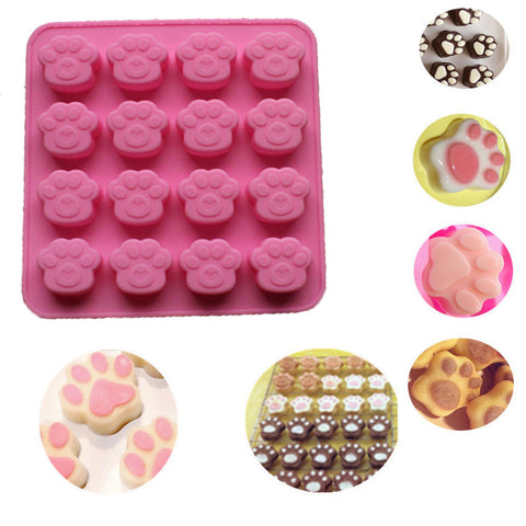 Cat Paw Silicone Cookie Cake Candy Chocolate Soap Ice Cube Mold