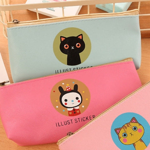 [Premium] Lovely Pop Colour Imi-Leather Waterproof Pencil Case
