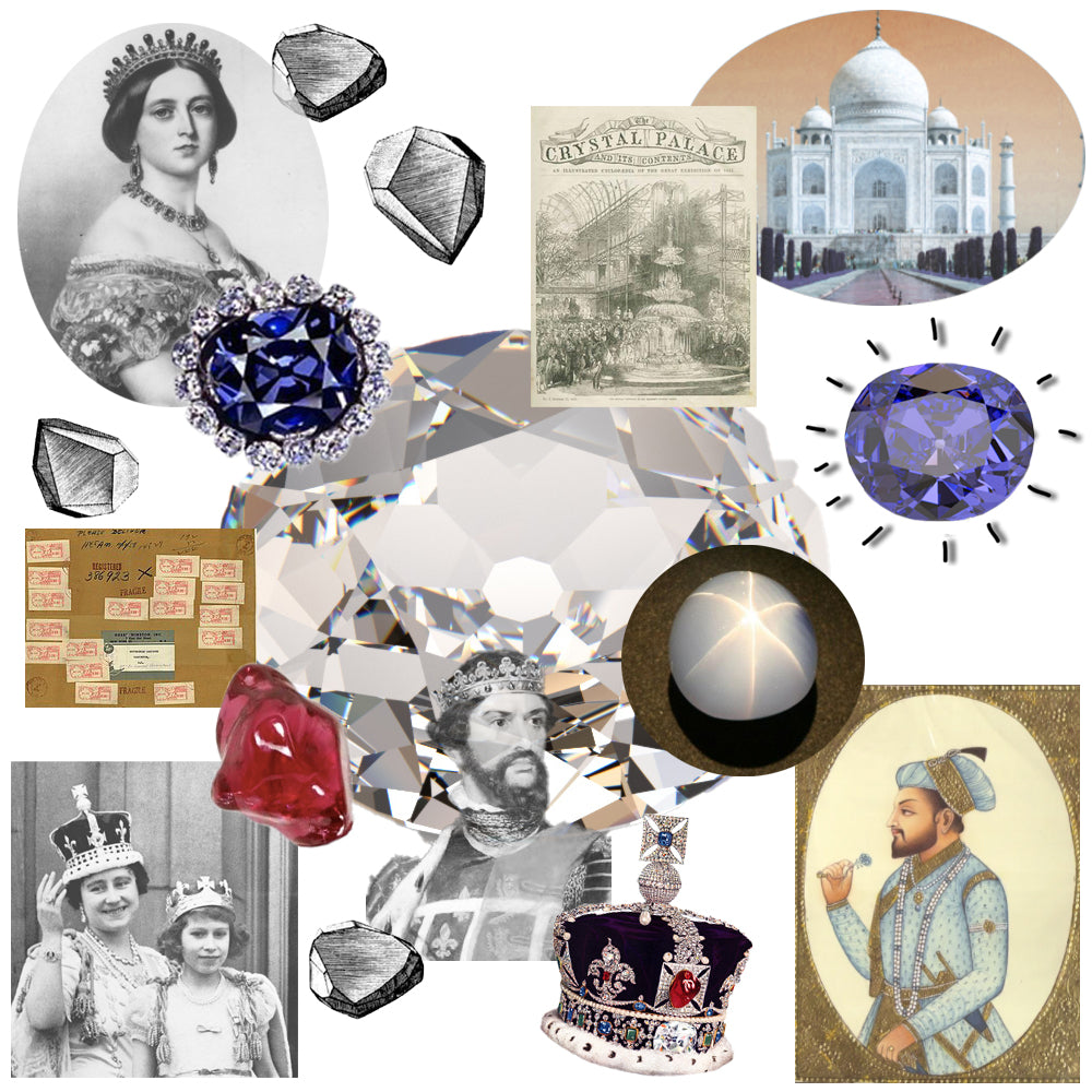 Famous Ancient Gemstones and Diamonds Hope Diamond Koh-i-Noor The Star of India Black Prince's Ruby