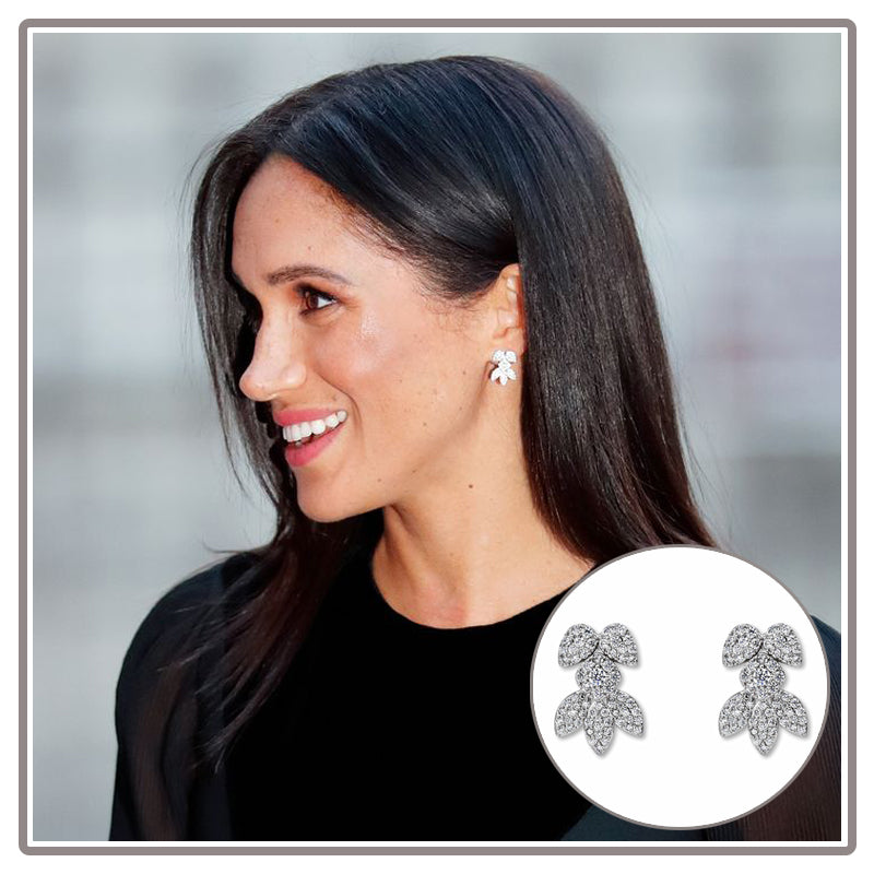 Meghan Markle Birks Snowflake Snowstorm Diamond Earrings