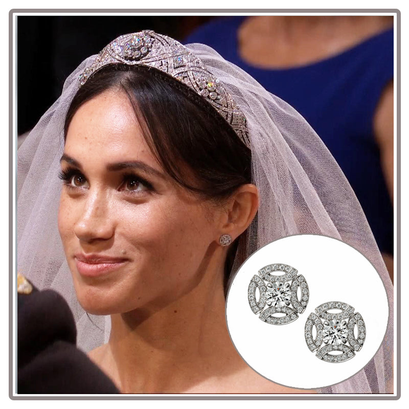 Meghan Markle Cartier Diamond Wedding Earrings