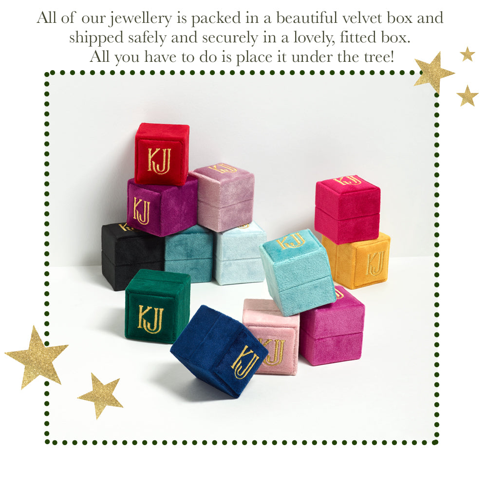 Holiday Velvet Ring Boxes