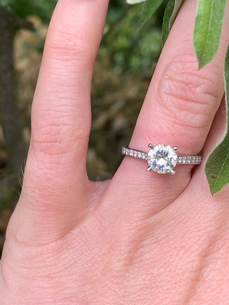 Magnificent 1.12ct + 0.40ct Solitaire Engagement ring