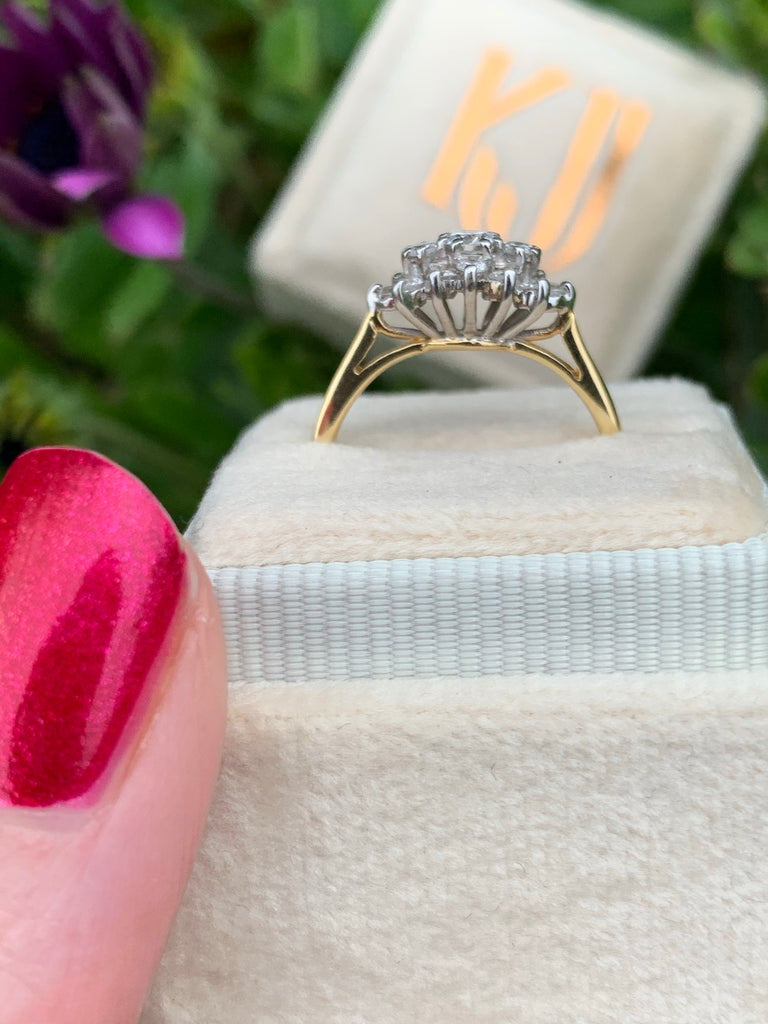 0.50 CTW Diamond Ring in 18K White and Yellow Gold