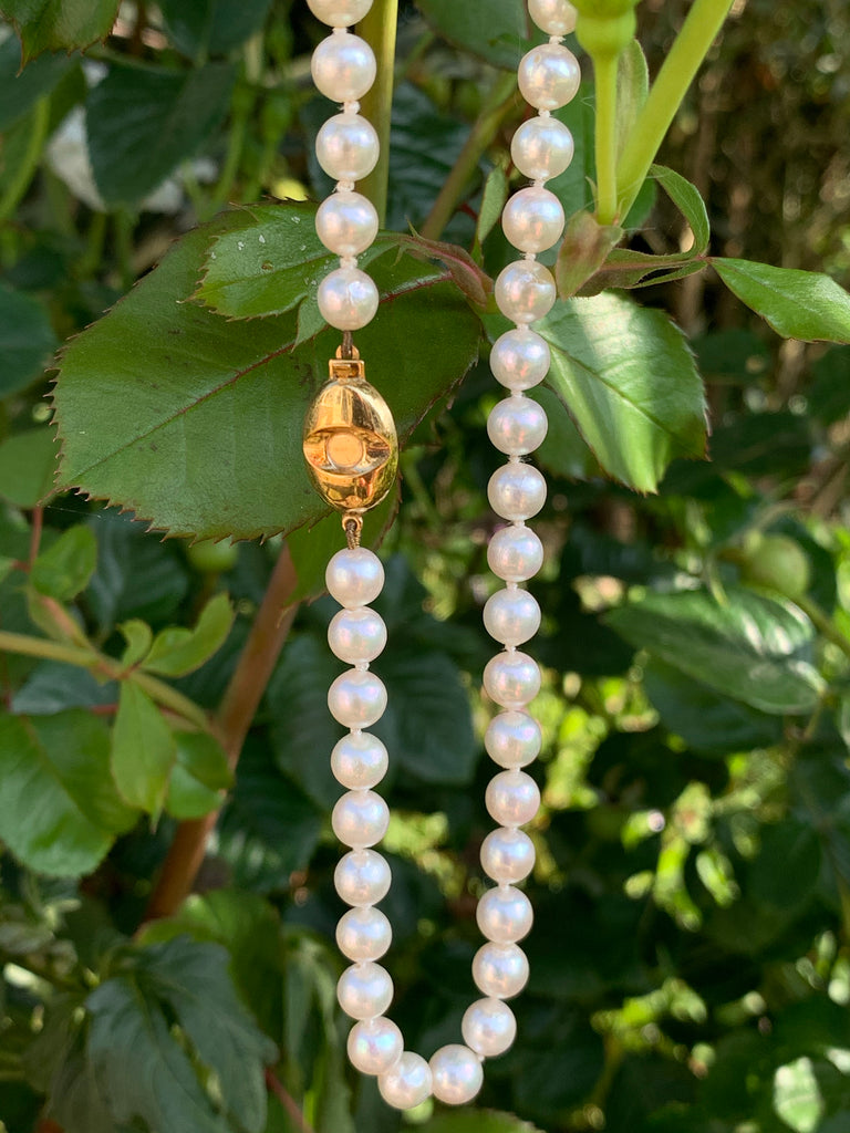 Cultured Pearl Necklace with 9K Gold Clasp