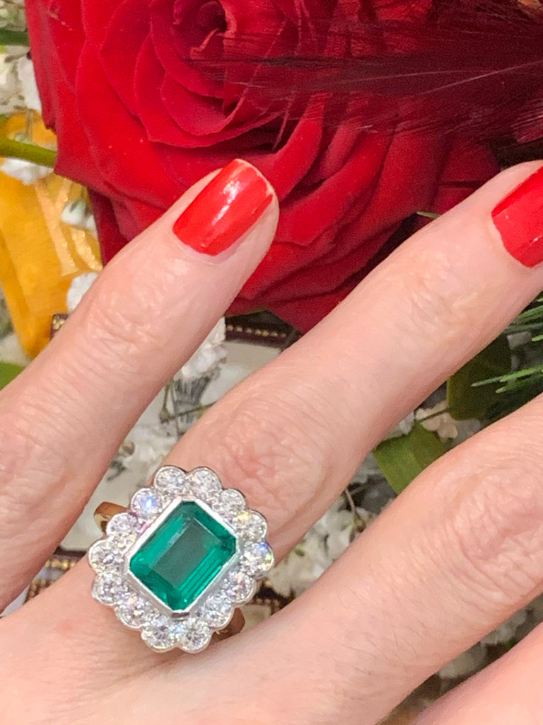 Magnificent Emerald and Diamond Ring