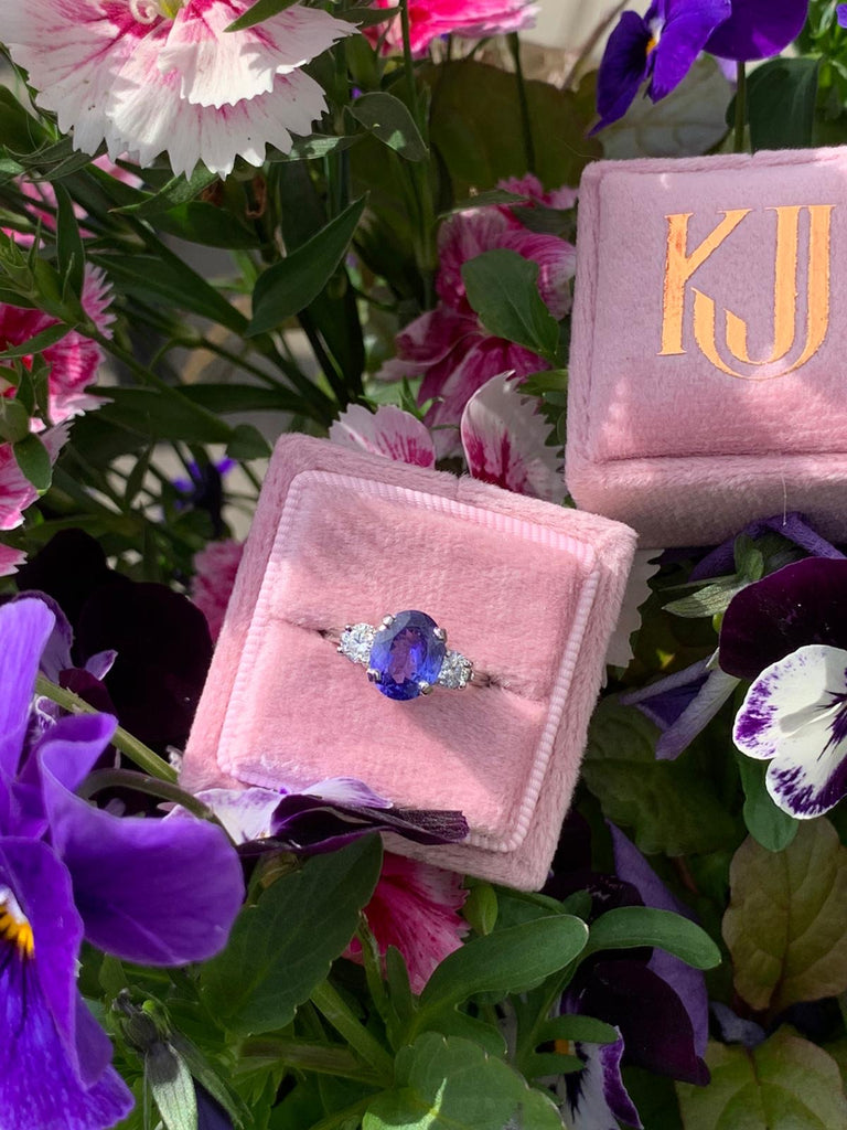 1.92 carat Tanzanite and Diamond Ring