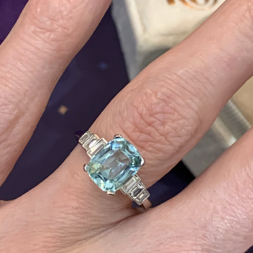 Gorgeous Tourmaline and Diamond Ring