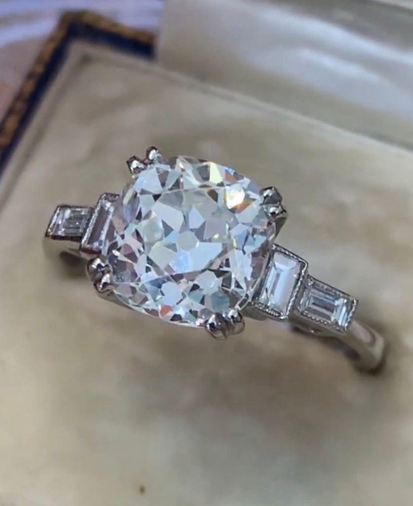 Art Deco 2.72ct Engagement Ring