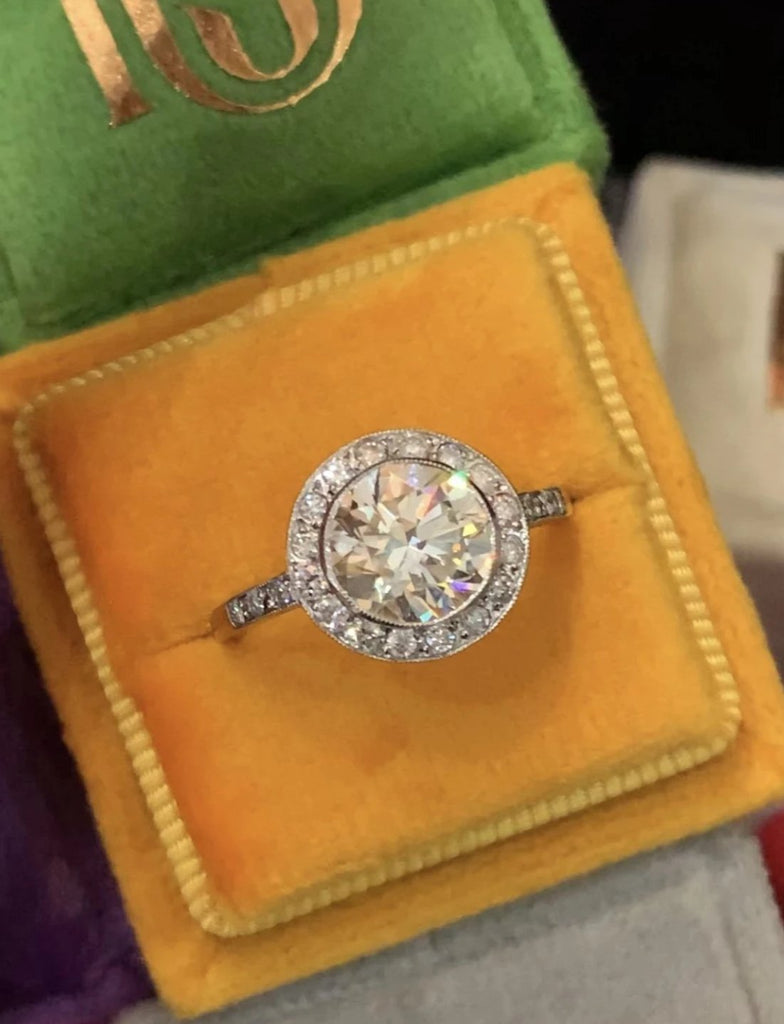 Sunny Pale Yellow 2.01ct Diamond Engagement Ring