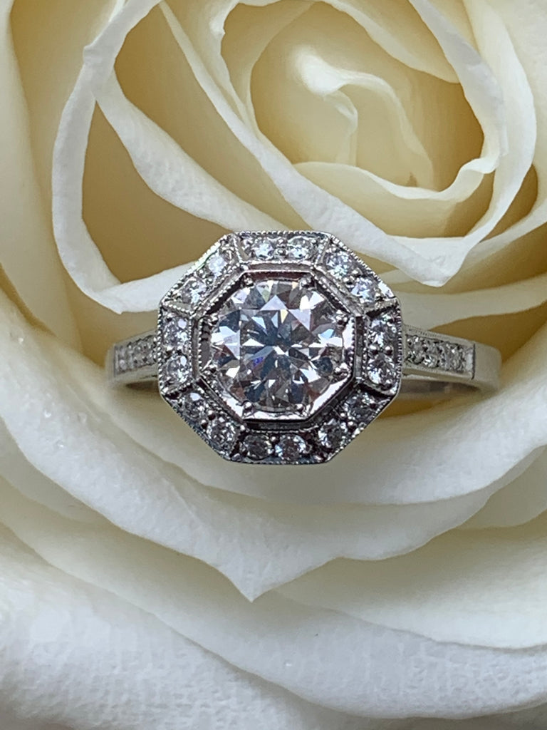 Katherine James Jewellery Art Deco Diamond Engagement Ring