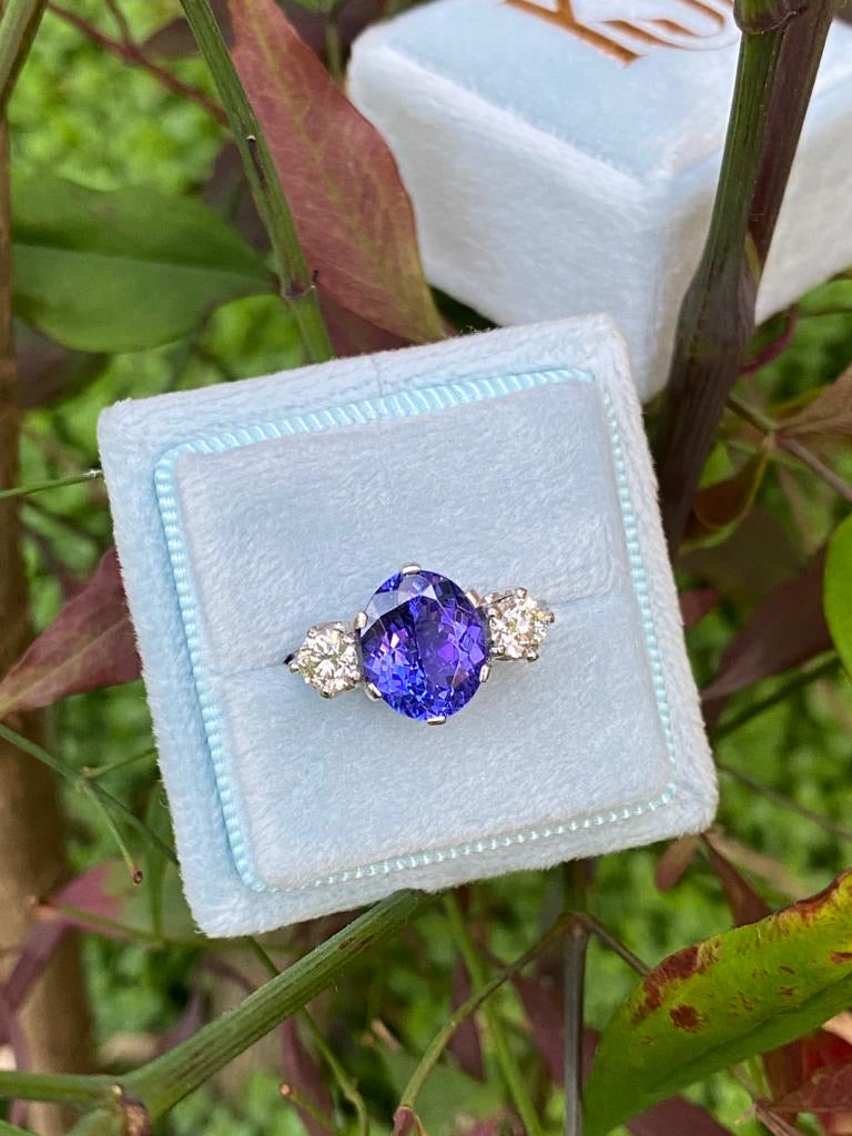 2.55 Carat Tanzanite and Diamond Ring