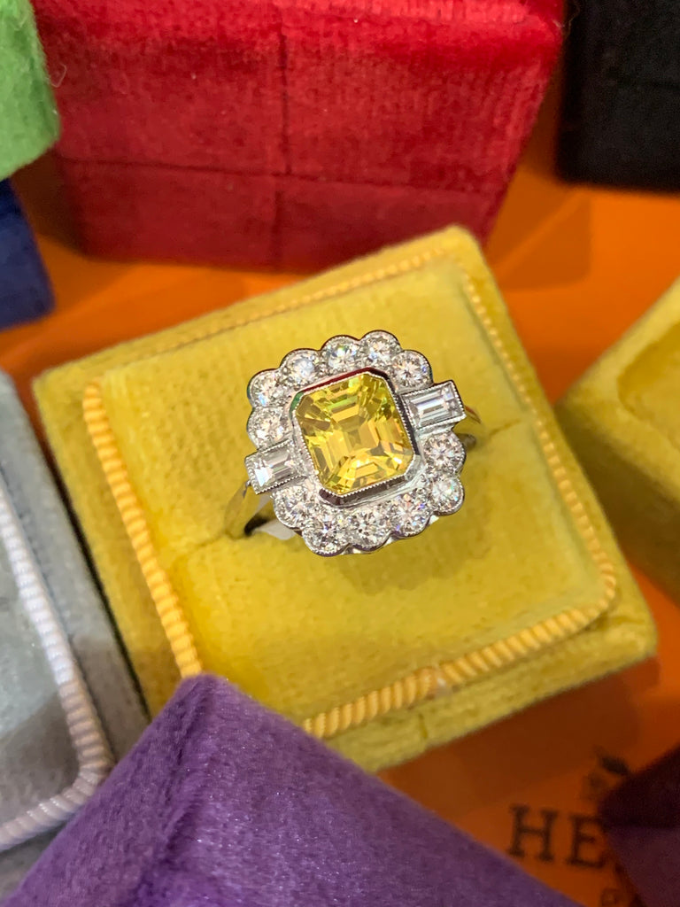 Katherine James Jewellery Yellow Sapphire RIng
