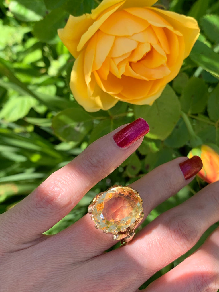 Glorious Citrine Ring