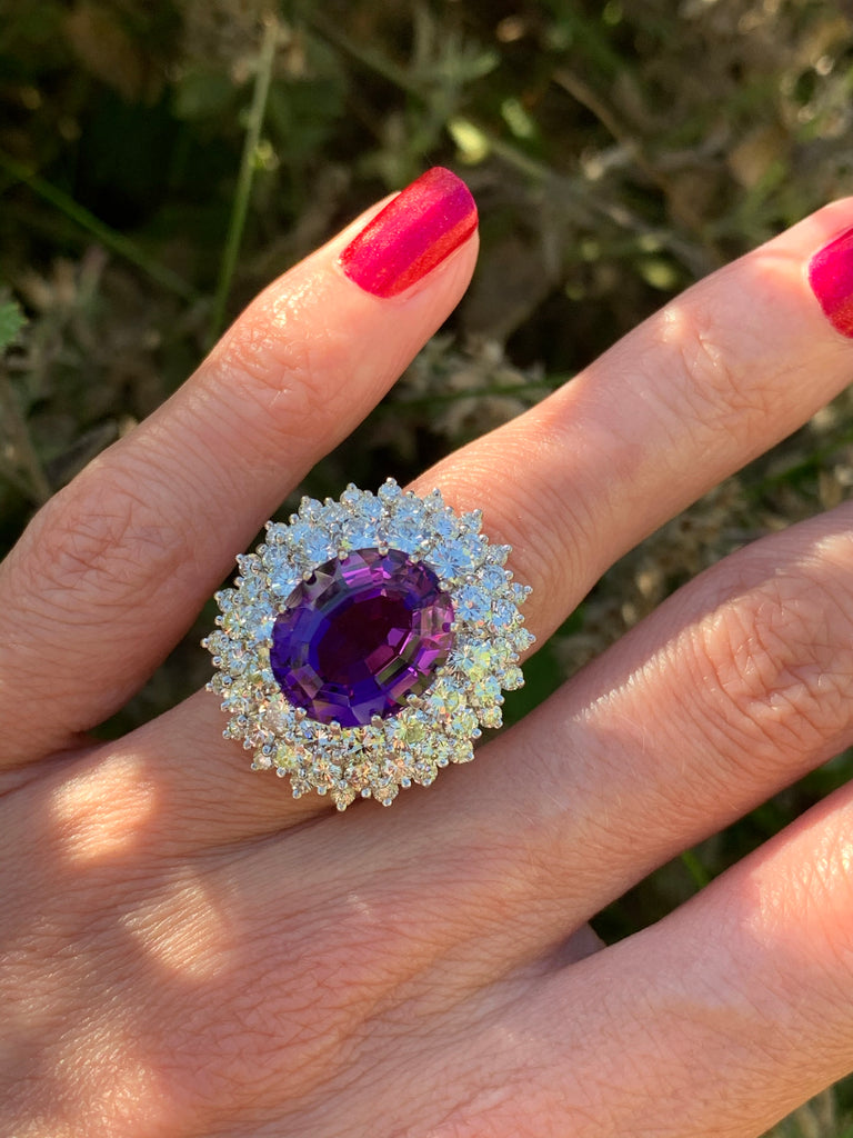 Katherine James Jewellery Amethyst Ring