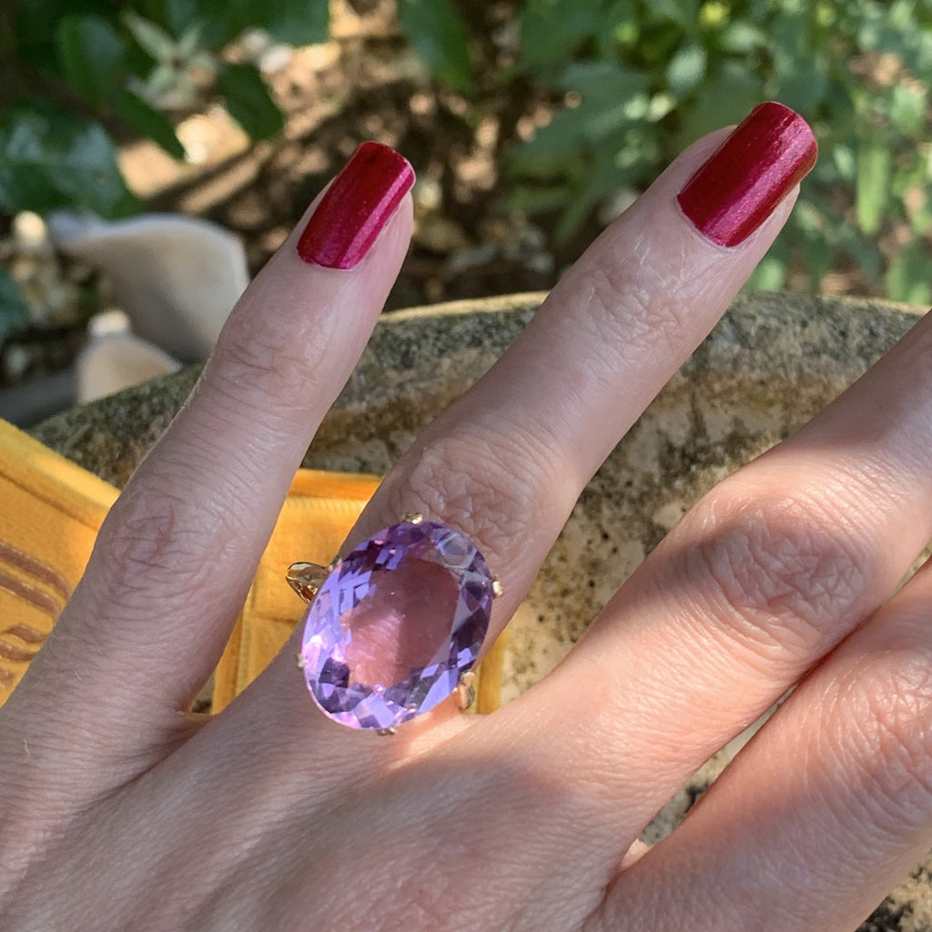Statement Amethyst Ring
