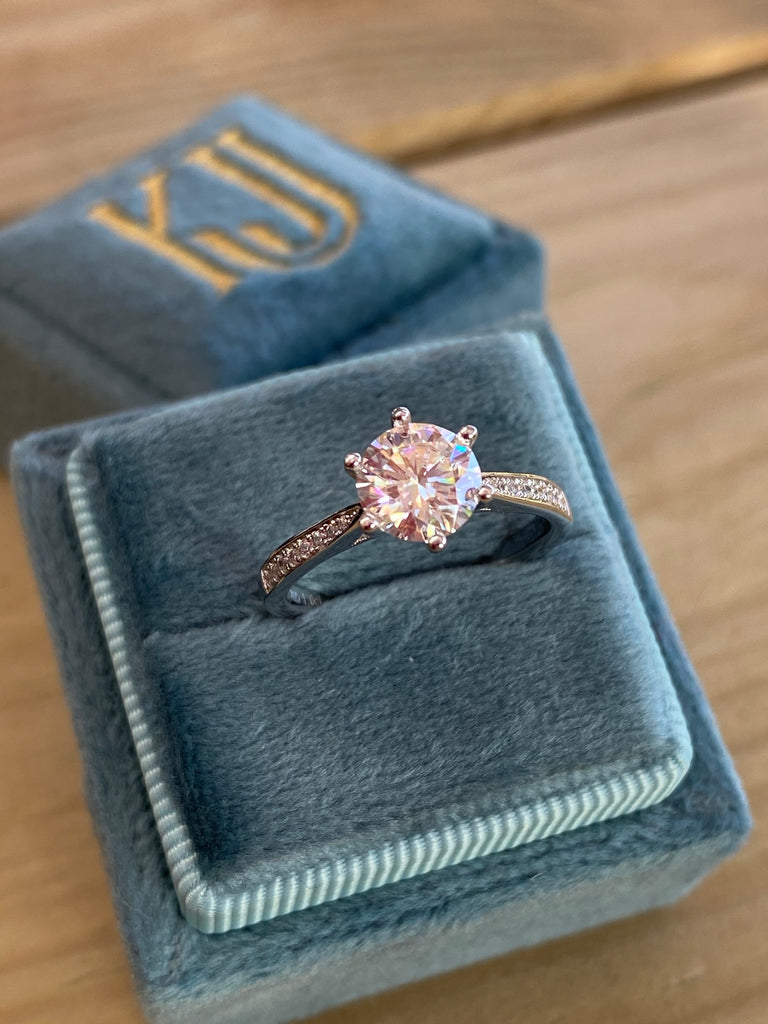 1.25 CTW Moissanite Engagement RIng