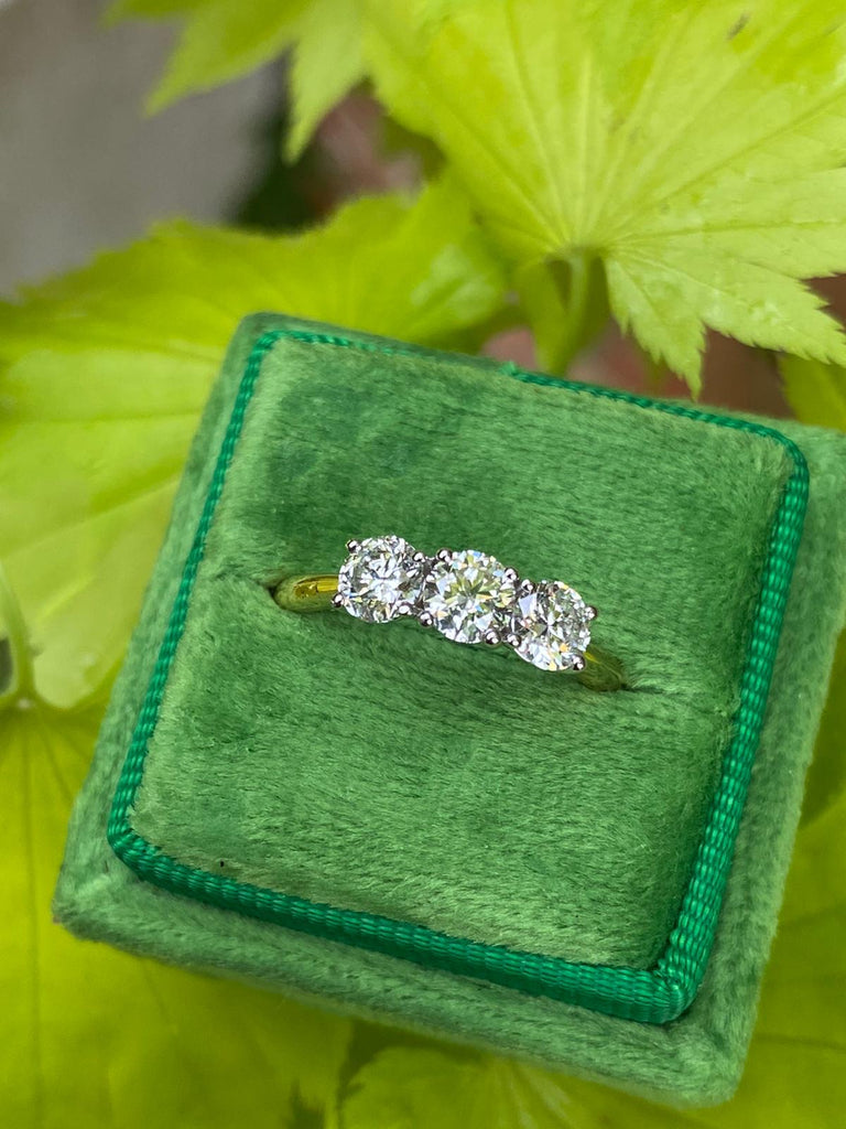 Fabulous 1ct Diamond Trilogy Engagement Ring