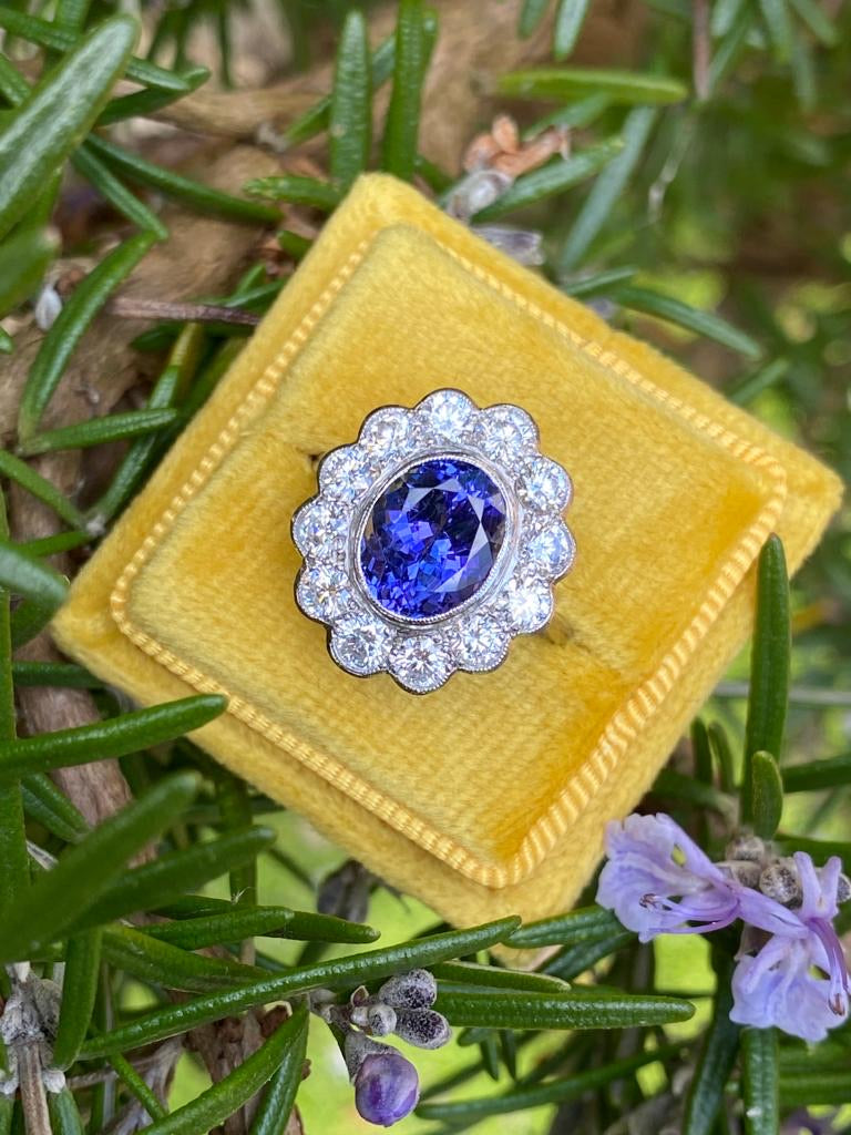 Dreamy Tanzanite and Diamond Ring