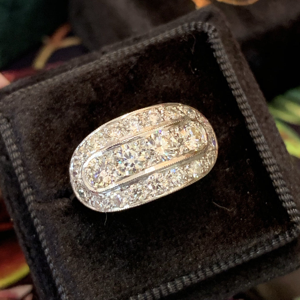1.5 Carat Diamond and Platinum Art Deco Ring