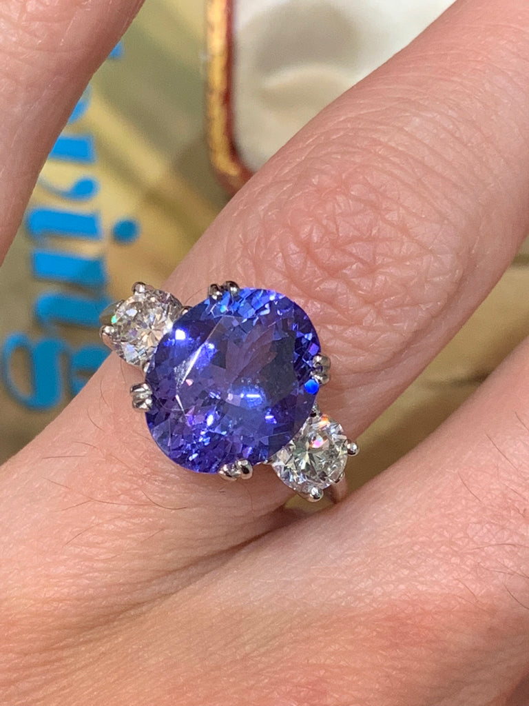 Magical tanzanite and diamond ring