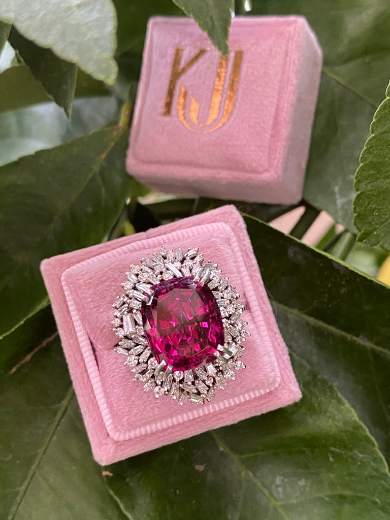 Katherine James Jewellery Garnet and Diamond Cocktail Ring
