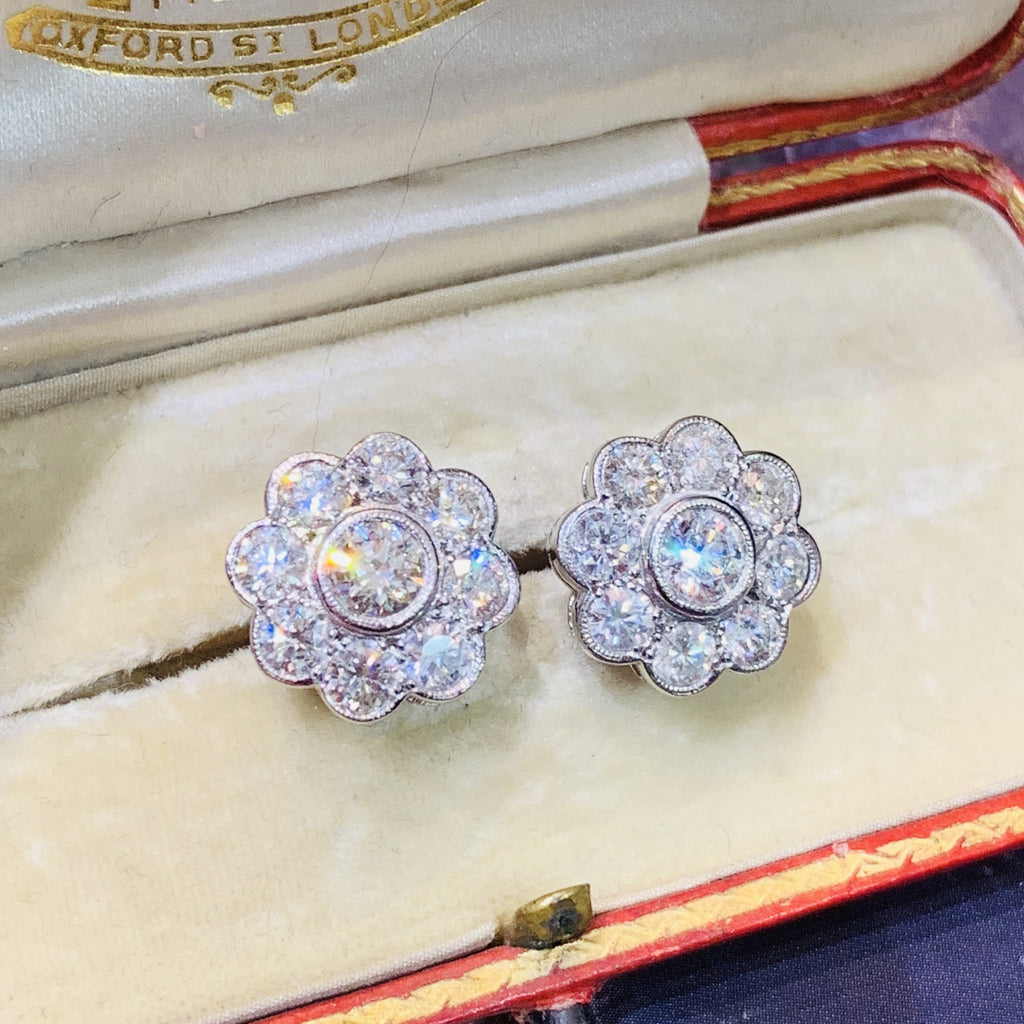 Magnificent 2.40ct Diamond Earrings